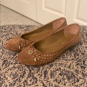 BCBGeneration Brown and Gold Flats